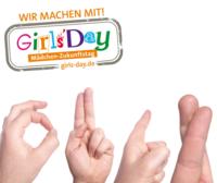 Gebärdenzeichen und Girls'Day-Logo