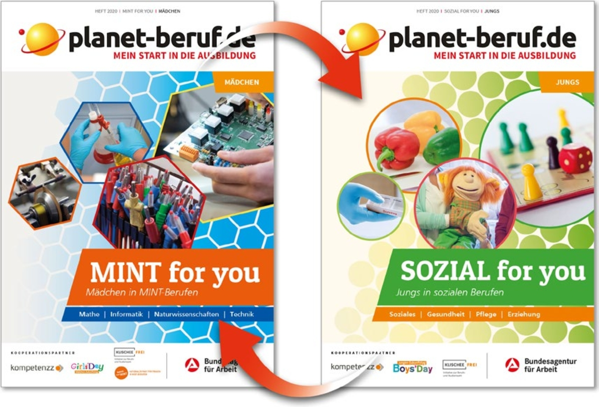 Cover des Wendeheftes MINT & SOZIAL for you 2020