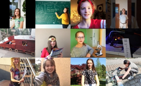 Collage der Gewinnerinnen des Girls'Day-Wettbewerbs