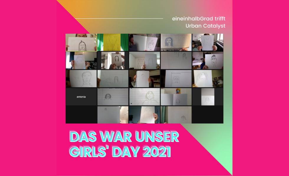 Collage zum Girls'Day bei eineinhalbGrad