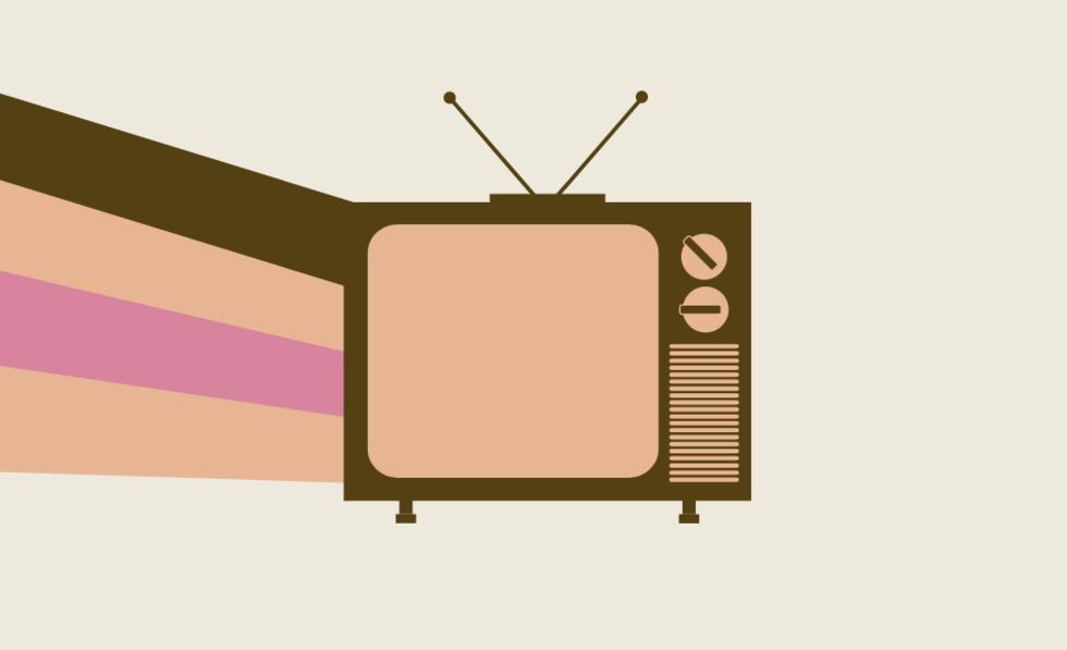 Grafik eines Fernsehers