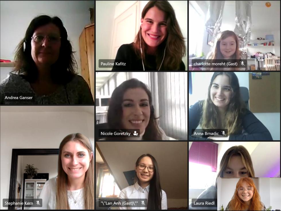 Screenshot vom Girls'Day bei der Bayerischen