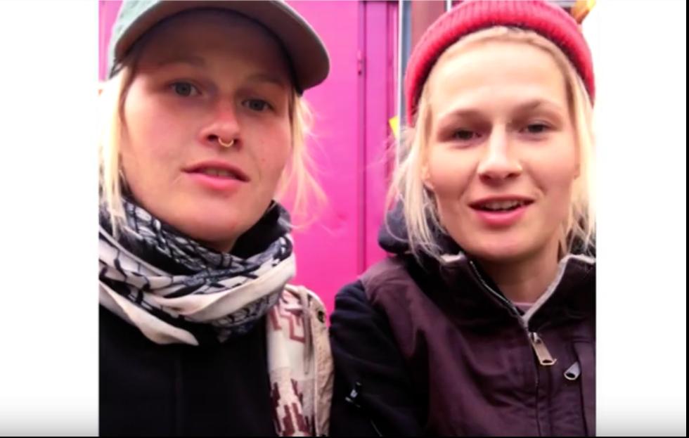 Screenshot vom Video mit Sarah und Wanda